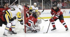 DEVILS HOST PENGUINS IN CRUCIAL GAME