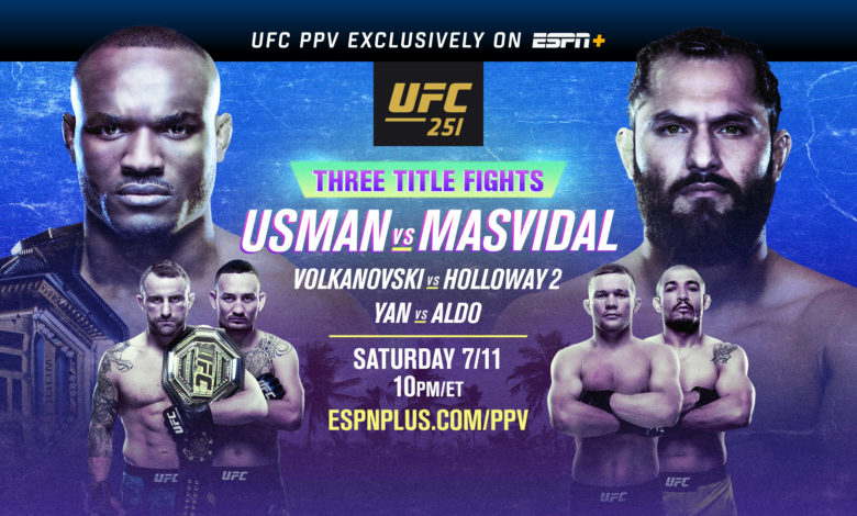 UFC 251: Usman vs. Masvidal Fight Card Preview and Predictions