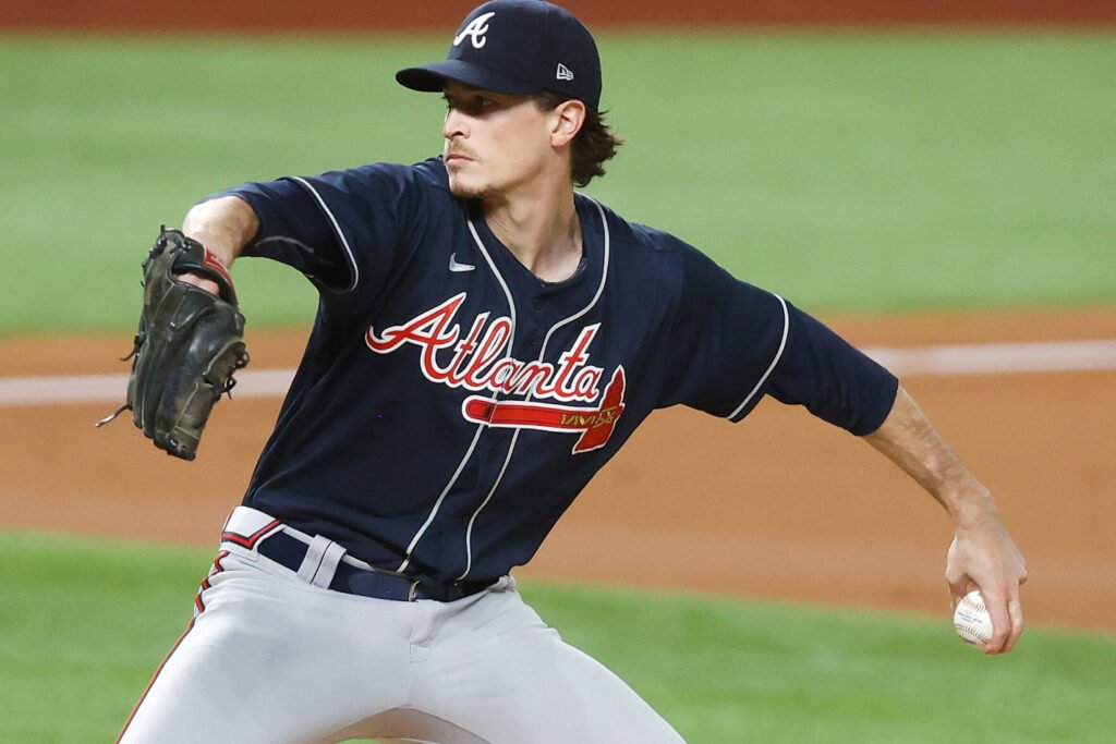 Max Fried makes a pitch in an Atlanta Braves game